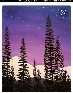 Do you need easy acrylic paintings? Today I'm sharing easy acrylic painting ideas for beginners to try. Simple acrylic paintings, improve your acrylic art. Cute Canvas Paintings, Easy Canvas Painting, Simple Acrylic Paintings, Easy Paintings, Watercolor Paintings, Canvas Art, Gouache Painting, Pour Painting, Sky Painting