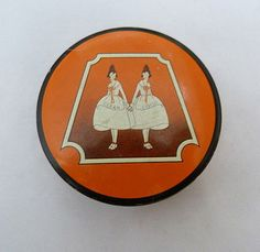 CLEAN GOOD AULT & WIBORG VINTAGE 1940s TYPEWRITER RIBBON TIN TRINKET PILL BOX