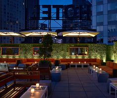 Best Rooftop Bars in NYC The rooftop lounge at the Empire Hotel recently got a facelift and was rechristened Level R.The rooftop lounge at the Empire Hotel recently got a facelift and was rechristened Level R.