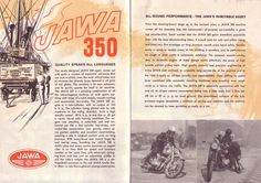 JAWA Motorcycles Emerged from Behind the Iron Curtain Norton Motorcycle, Enfield Motorcycle, Jawa 350, Bsa Bantam, Hell On Wheels, Assembly Line, Classic Bikes, 8th Of March, Brochures