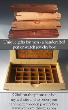 If Your Guy Collects Pens Watches Cufflinks Rings Or Any Other Jewelry Mens ValetHandmade BoxDecorative BoxesKeepsake BoxesWooden
