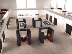 TRÈS Cabine de escritório acústica by MASCAGNI design Antonio Mugnoz