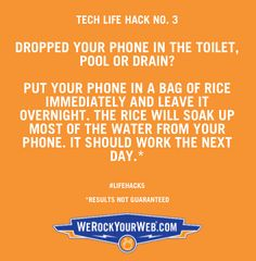 Save your water damaged cell phone with RICE!
