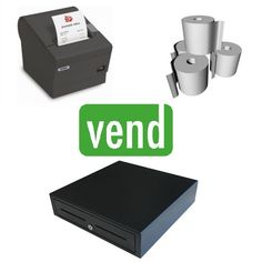 VEND POS HARDWARE BUNDLE #2 Ipad Stand, Cash Register, Point Of Sale, Pos, Printer, Hardware, Software, Food Truck, Drawer