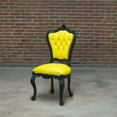 Fab.com | Side Chair Black & Yellow by POLaRT