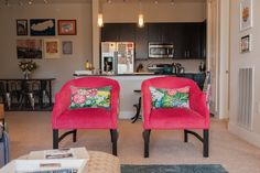 Chairs by Hallman Furniture from Front Door Fabrics.