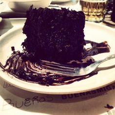 Bomba de chocolate en el Buenas Migas