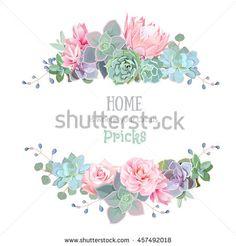 """Résultat de recherche d'images pour """"succulents vector"""""""