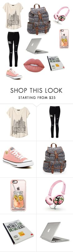 """My Preferred Every Day Outfit & Accessories"" by kawaiikennedy0 ❤ liked on Polyvore featuring Banana Republic, Miss Selfridge, Converse, Aéropostale, Casetify, Speck and Lime Crime"