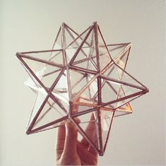 12 pointed stained glass star  ornament  by ABJglassworks on Etsy