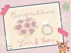 Félicitation aux jeunes mariés! #mariage #wedding #congratulations