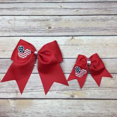 Disney Flag Bow Disney Cruise Bow Disney Cheer Bow Disney Hair Bow... ($7) ❤ liked on Polyvore featuring accessories, hair accessories, silver, hair bows, bow hair accessories and ribbon hair bows