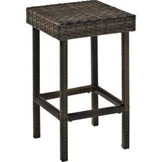 Take happy hour out to the patio with the Crosley Furniture Palm Harbor Wicker Outdoor Bar Height Stool - Set of 2 . Wicker Counter Stools, Rattan Bar Stools, Patio Bar Stools, Outdoor Stools, Counter Height Bar Stools, Outdoor Sofa, Outdoor Living, Indoor Bar, Outdoor Wicker Furniture