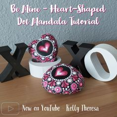Easy step by step follow along with Kelly Theresa to create these adorable heart-shaped stones for Valentine's day or that special healthcare worker in your life ❤️ #valentinesdaygift #valentines #valentinesmandala #dotpainting #rockpainting #valentinesrockpainting #heartshapedrocks #heartshapedmandala #dotpaintingtutorial #dotpainting101 #mandalatutorial #stepbysteppainting #dotmandalastepbystep #videotutorial #paintingvideo Mandala Painting, Dot Painting, Mandala Pattern, Mandala Design, Domino Crafts, Heart Shaped Rocks, Ladybug Crafts, Dotting Tool, Step By Step Painting