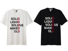 Metal Gear Solid legacy shirts by Uniqlo