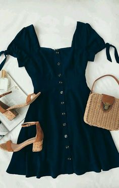Outfit for dinner Chances Are Navy Blue Skater Dress - Nice ✔️;D - Die Chancen stehen gut, dass Navy Blue Skater Dress - Nice ✔️; Cute Dresses, Casual Dresses, Casual Outfits, Women's Dresses, Dresses Online, Dress Outfits, Navy Blue Outfits, Navy Outfit Ideas, Bride Dresses