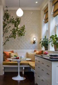 kleine küche verschönern mit weißer sitzecke küche