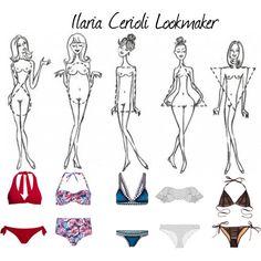 Bikini by ilaria-lookmaker on Polyvore featuring moda, Lisa Marie Fernandez, kiini, Beach Bunny, Canvas by Lands' End, Dorothy Perkins and SoCa St. John