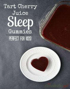 Tart Cherry Juice Sleep Gummies Perfect for Kids - The Greenbacks Gal natural melatonin? Interesting idea.