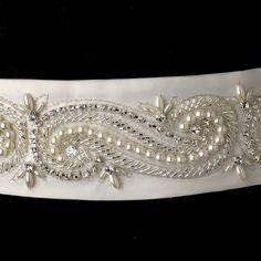 Affordable Elegance Bridal - Pearl and Rhinestone Beaded Swirl Wedding Dress Sash Belt - sale!, $92.98 (http://www.affordableelegancebridal.com/pearl-and-rhinestone-beaded-swirl-wedding-dress-sash-belt-sale/)