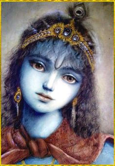 """✨ SHRI KRISHNA ✨ """"The word 'krish' is the attractive feature of the Lord's existence, and 'na' means spiritual pleasure. When the verb 'krish' is added to the affix 'na' it becomes Krishna, which. Radha Krishna Images, Lord Krishna Images, Radha Krishna Love, Krishna Pictures, Radhe Krishna, Radha Rani, Hanuman, Krishna Leela, Baby Krishna"""