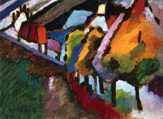Murnau - Castle and Church  Wassily Kandinsky - 1909