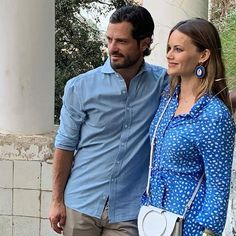 Prince Carl Philip and Princess Sofia visited Villa San Michele