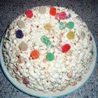 Popcorn Cake! You can add any kind of candy you like, but I prefer spiced gum drops!