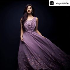 Beautiful Georgette-Silk Long Dress with cowl/ drape yoke and hand embroidery embellishment. Source by chandanabs dress Stylish Dress Designs, Dress Neck Designs, Stylish Dresses, Cute Dresses, Beautiful Dresses, Amazing Dresses, Blouse Designs, Casual Dresses, Prom Dresses