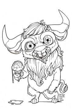 minotaur colouring page