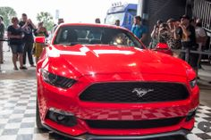2014 Ford Mustang Fastback / Coupe in race red  #Ford #Mustang #mustangclub