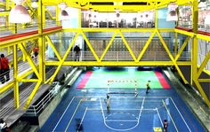 VERTICAL GYM - FREE UP SITE AREA, VIBRANCY OF SIMULTANEOUS PROGRAMME (COLOURS!)