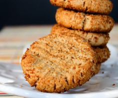 4 Ingredient Peanut Butter Cookies that are Vegan, Gluten-free and Oil-free! by http://TheVegan8.com