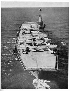 Ark Royal with her complement of Swordfish torpedo bombers, shortly after the Bismarck engagement, in June 1941. (Courtesy Adelaide Archivist | flickr.com CC BY_NC 2.0)