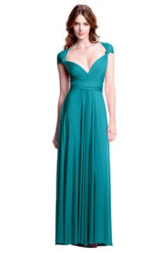As gorgeous and precious as a turquoise gemstone itself, this stunning blue-green teal is a welcoming and gorgeous reminder of white sands, sunny skies, and the bright clear ocean. The Sakura Maxi Convertible Dress is perfect for [...]