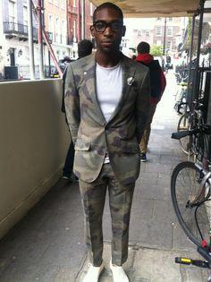 Twitter / GQRecommends: That @Tinie Le Le Le Tempah camo suit