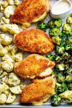 Easy Sheet Pan Chicken Cordon Bleu & Dijon Cream Sauce - Cafe Delites