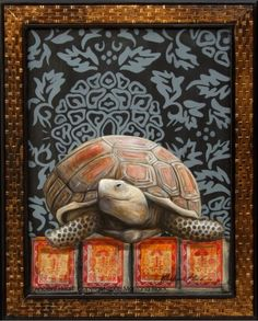 The Black Tortoise rules the northern side of the house and with her great shell, guards your back - water energy.