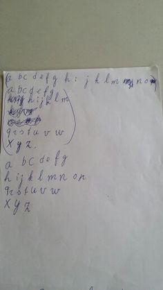 Alfabet eerst en nu