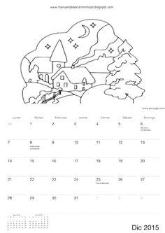 Calendario 2015 para colorear-niños de Manualidadesconmishijas Diciembre - december calendar