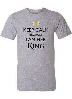 Keep Calm King Shirt / Couples Apparel / Couples Shirts / Wedding / Couples Apparel has the best matching apparel for you and your significant other!