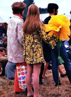 Couple attends the Festival of the Flower Children at the Windsor Jazz Festival, August 12, 1967
