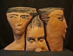 ceramic-sculpture-three-heads-SallyHook