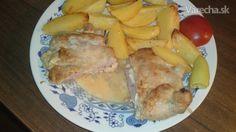 Detviansky rezeň (fotorecept) Ale, French Toast, Pork, Cheese, Meat, Chicken, Breakfast, Kale Stir Fry, Morning Coffee