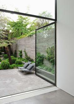 Open + garden + concrete