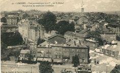 Limoges : vue panoramique vers l'Eglise Saint-Michel et perspective du Boulevard Gambetta - Bfm Limoges.