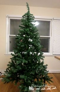 Use shiny green tinsel to make your Christmas tree look fuller. | 38 Clever Christmas Hacks That Will Make Your Life Easier