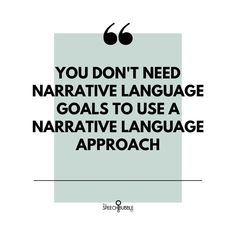Just wanted to toss out this reminder since I get a lot of questions about how to write goals for narratives and literacy.⁣-⁣You need to write the goal for the skill the child needs, not the method you intend to use. Pretty much any goal can be targeted using a narrative/literacy-based approach so don't stress about 'how to make it fit a narrative approach'. ⁣
