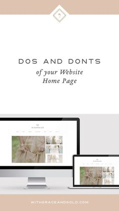 The incredible ladies of With Grace and Gold created an amazing website for me - with the perfect Home Page!