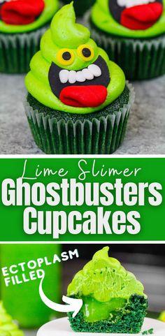 Haloween Cupcakes, Halloween Cupcakes Decoration, Ghost Cupcakes, Lime Cupcakes, Holiday Cupcakes, Halloween Desserts, Baking Cupcakes, Halloween Cakes, Cupcake Cookies